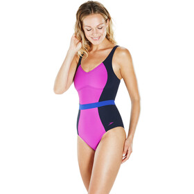 speedo Sculpture CrystalGleam 1 Piece Swimsuit Damen navy/diva/ultramarine